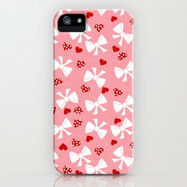 Lace gift wrap pink iPhone Case