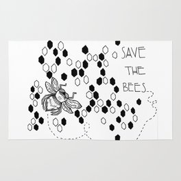 Save The Bees Rug