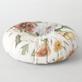 Wildflower Bouquet Floor Pillow