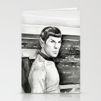 spock Stationery Cards featuring Spock by Olechka
