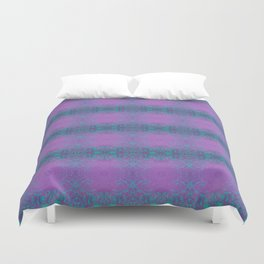 Dreamy turquoise and purple spirals  Duvet Cover