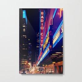New York City Neon Jungle Metal Print