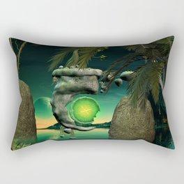The flying rock with clock Rectangular Pillow