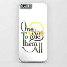 One Ring iPhone Case