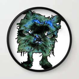 Lugga The Friendly Hairball Monster For Boos Wall Clock