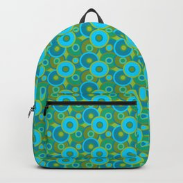 psychedelic blue Backpack