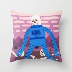 Sad Spaceman Throw Pillow