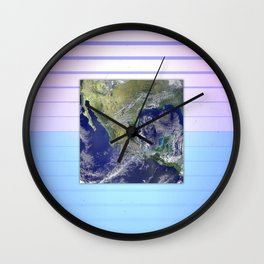 Flat Earth Wall Clock