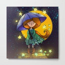 Stars Rain Metal Print