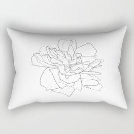 Single rose illustration - Magda Rectangular Pillow