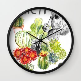 C is for Cacti Wall Clock