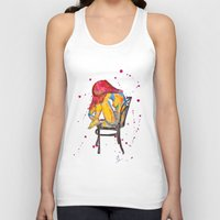 selena Tank Tops featuring selena by Laurie Art Gallery