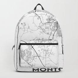 Minimal City Maps - Map Of Montgomery, Alabama, United States Backpack