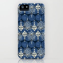 lotus diamond indigo iPhone Case