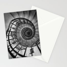 dark spiral staircase Stationery Cards