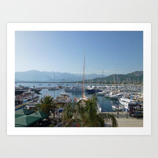 Calvi, Corsica - Pleasure Port Art Print