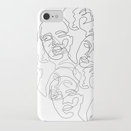 Lined Face Sketches iPhone Case