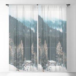 Fir Forest Winter Sheer Curtain