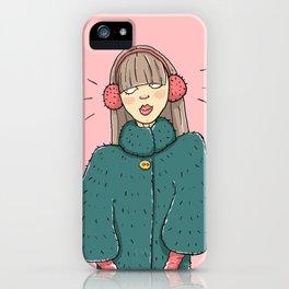 Snow music iPhone Case