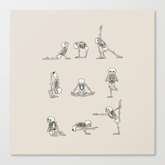 Skeleton Yoga Canvas Print