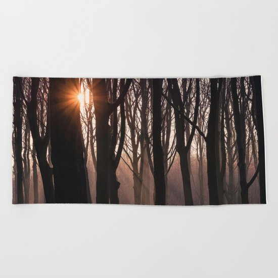 Up In The Woods Beach Towel