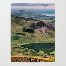 Snowdon Moutain View Poster
