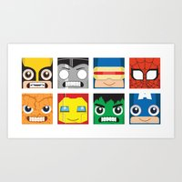 superheros Art Prints featuring Baby Superheros by Jconner