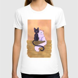 Loving Cats on a Wall T-shirt