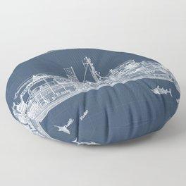 The Belafonte Blueprint Floor Pillow