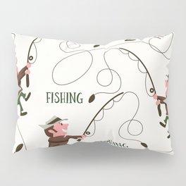 Fishing pattern of a fisherman Pillow Sham