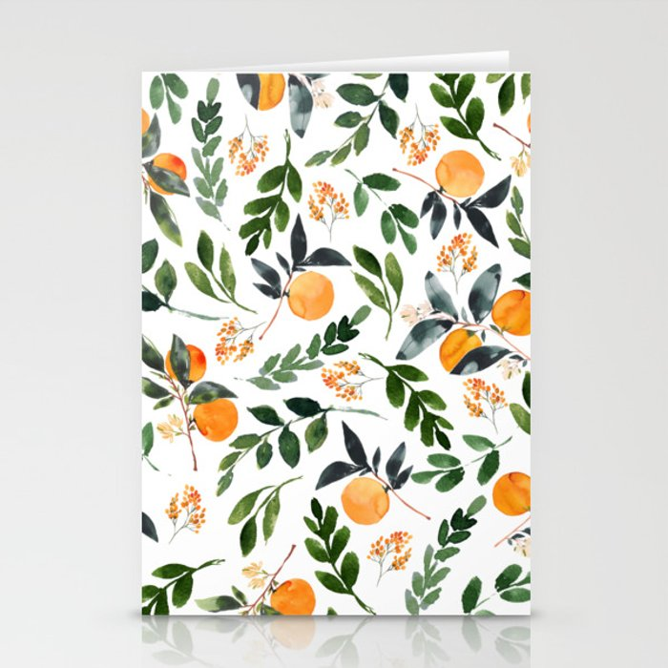 Orange Grove Stationery Cards