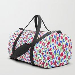 Watercolor miniature flowers floral pattern Duffle Bag