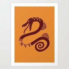 The Serpent's Sin of Envy Art Print