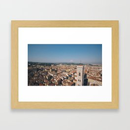 Atop the Duomo - Florence, Italy. Framed Art Print