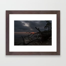 Dark Colington Sunset Framed Art Print