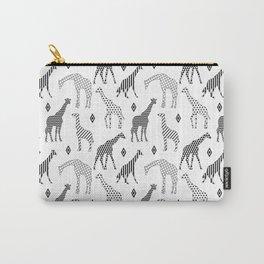 Geometric Giraffes Carry-All Pouch