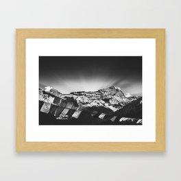 Namché Bazar mountain view in Nepal Framed Art Print