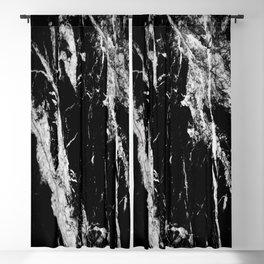 Dark marble black white stone1 Blackout Curtain