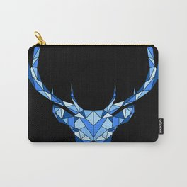 Blue Geometric Deer Carry-All Pouch