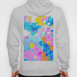 Pop Floral Cube Pattern 1 #fashion #pattern #lifestyle Hoody