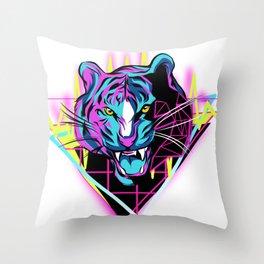 Neon Tiger Throw Pillow