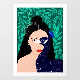 The Peacock Girl Art Print