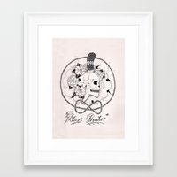 pirate Framed Art Prints featuring Pirate by Thrashin