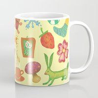 be happy Mugs featuring Happy by Vladimir Stankovic