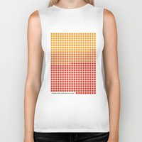 rothko Biker Tanks featuring Orange and Yellow (Mark Rothko) color-sorted by Clemens Hellmund