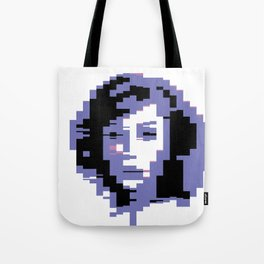 8 Bit Portrait of a Girl Tote Bag