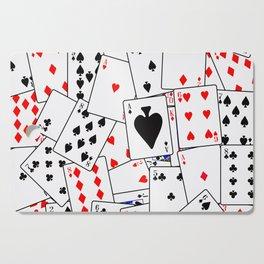 Random Playing Card Background Cutting Board