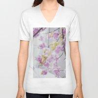 blossom V-neck T-shirts featuring Blossom by FedericaGiordano