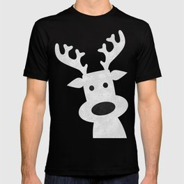 Christmas reindeer red marble T-shirt