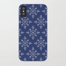 Paper Cut Snowflake Pattern iPhone Case